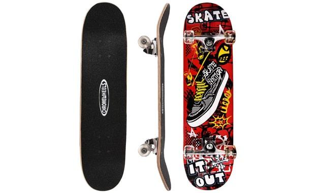 ChromeWheels-31-Inch Skateboard Complete Longboard Double Kick Skate Board   Cruiser