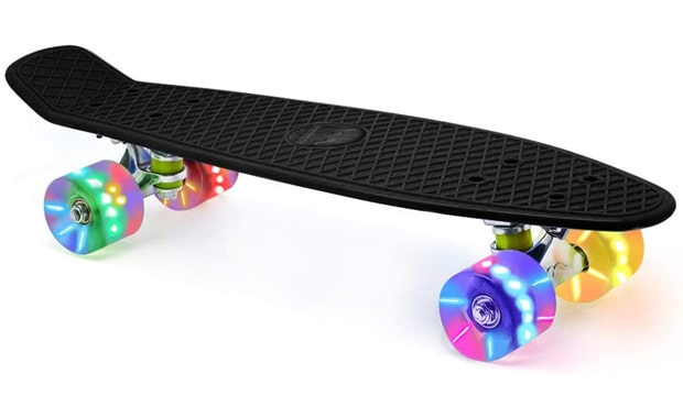 Merkapa-22-Inch Complete Skateboard with Colorful LED Light Up Wheels