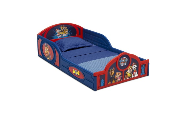 Nick Jr. PAW Patrol Plastic Sleep and Play Toddler Bed with Attached   Guardrails-By Delta Children