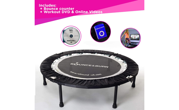 Maximus Life Foldable Bounce and Burn Mini Indoor Trampoline