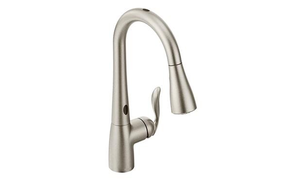 Best Overall: Moen 7594ESRS Arbour Motionsense Kitchen Faucet