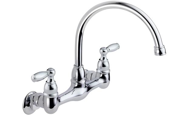 DELTA FAUCET Peerless 2-Handle Wall Mount Kitchen Faucet