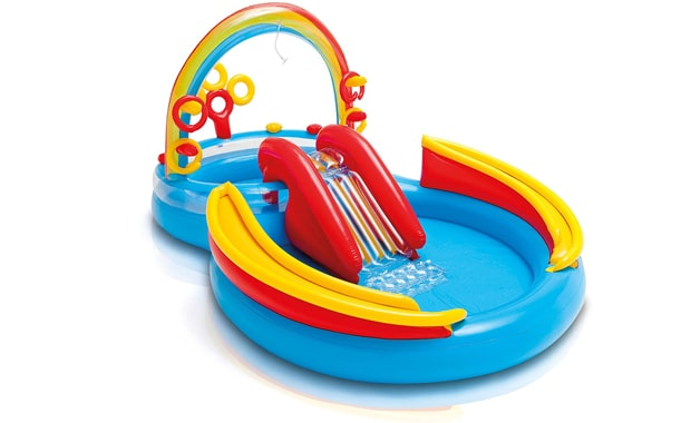 Intex Rainbow Play Center Ring Inflatable Kiddie Pool