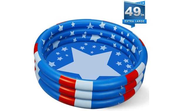 BOVN Inflatable Extra Large Stars Kiddie Pool