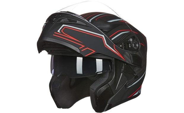 ILM 902 Dual Visor Modular Flip up Full Face Motorcycle Helmet