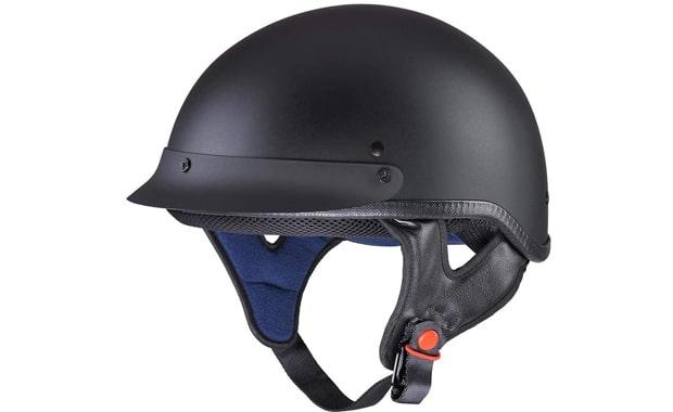 AHR Half Face DOT Approved Motorcycle Helmet