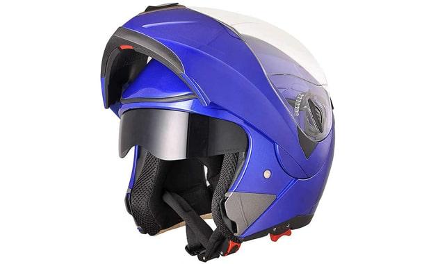 AHR Flip up Full Face Modular Blue Motorcycle Helmet
