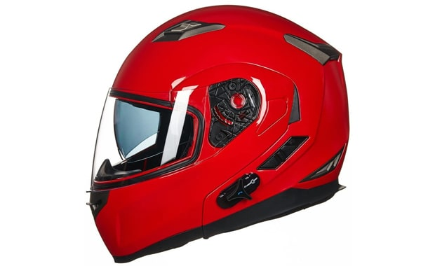 ILM Full Face Bluetooth Integrated Flip up Modular Motorcycle Helmet