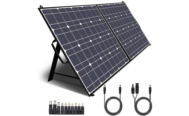 TWELSEAVAN Foldable Portable 100W Solar Panel