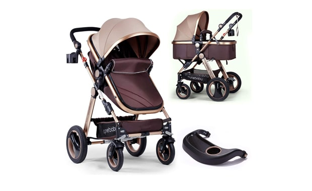 Infant Baby Stroller-For Newborn and Toddlers-Cynebaby Convertible Bassinet   Stroller