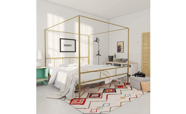 Novogratz Gold King Marion Canopy Frame For Bed