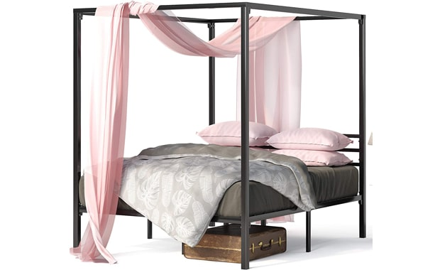 Zinus Patricia Four Poster Metal Framed Bed Frame