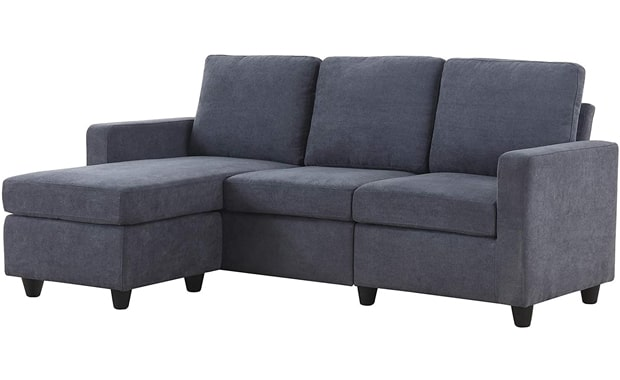 HONBAY Sectional Convertible L-Shaped Sofa Couch