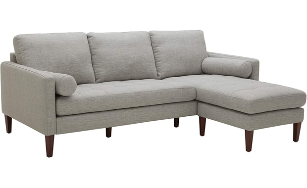 Rivet Aiden Amazon Brand Mid-Century Tapered Wood Sectional Sofa