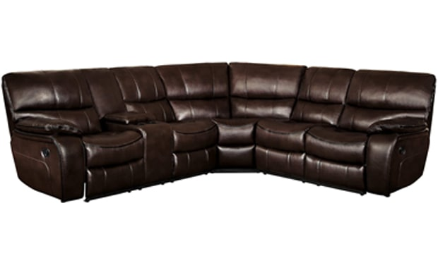 Homelegance Pecos Manual Reclining Leather Gel Sectional Sofa