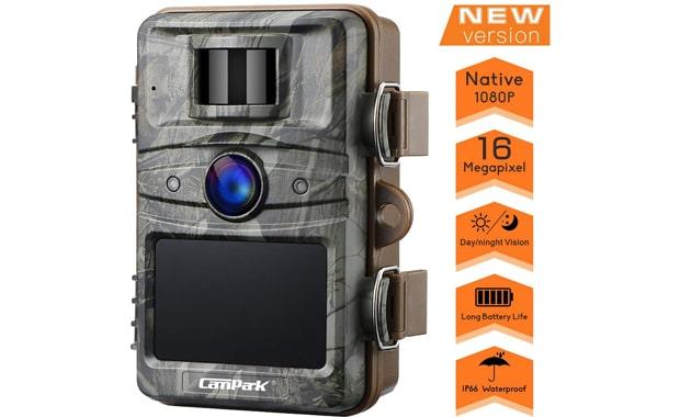 Campark Upgrade No Glow T70 Night Vision 1080P 16MP Trail Camera