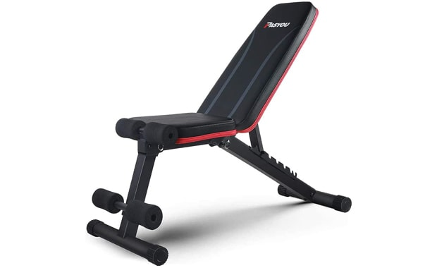 PASYOU Foldable Adjustable Decline Incline Workout Bench