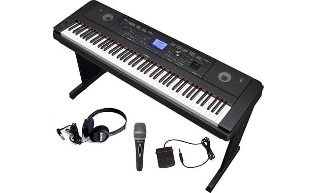 Yamaha DGX660 Keyboard Piano with Microphone, Headphones, and Stand