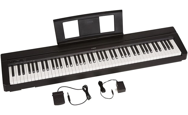 YAMAHA 88-Key P71 Digital Piano With Power Supply and Sustain Pedal