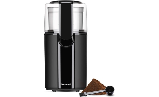 SHARDOR Black Electric Coffee with Stainless Steel Detachable Bowl