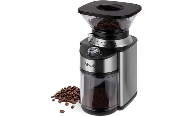 Sboly Adjustable Stainless Steel Conical Burr Electric Coffee Grinder
