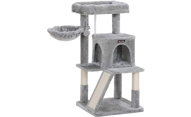 FEANDREA Sisal-Covered Cat Tree with Scratch Posts
