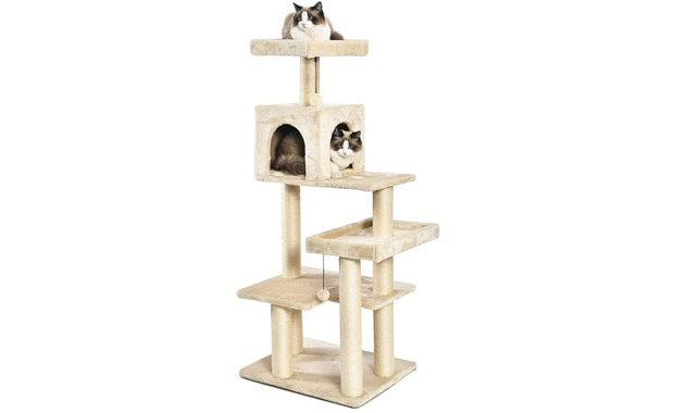AmazonBasics Cat Tree (Multi-Level) with Top-Notch Scratching Posts