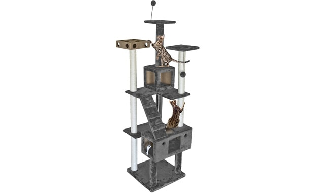 Furhaven Tiger Tough Cat Tree for Kittens and Cats