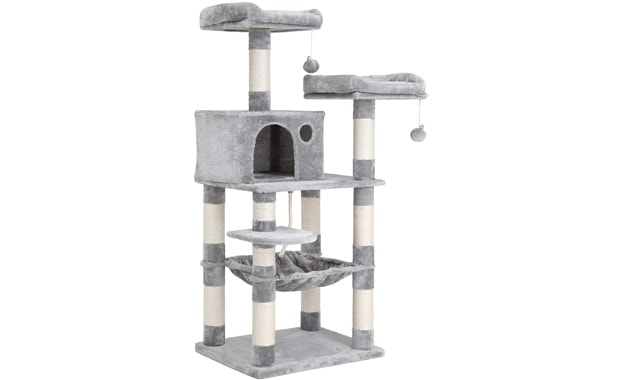 "FEANDREA Multi-Level 56.3"" Cat Tree Tower Furniture for Cats, Kittens & Pets"
