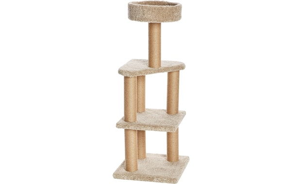 AmazonBasics CT-114 Activity Cat Tree with Scratch Posts