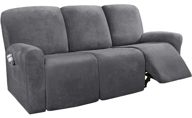 H.VERSAILTEX Recliner Velvet Stretch Sofa Slipcover