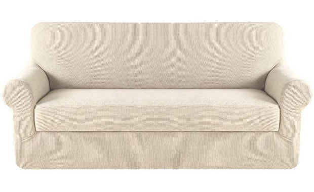 H.VERSAILTEX 2 Piece Stretch Sofa Slipcover