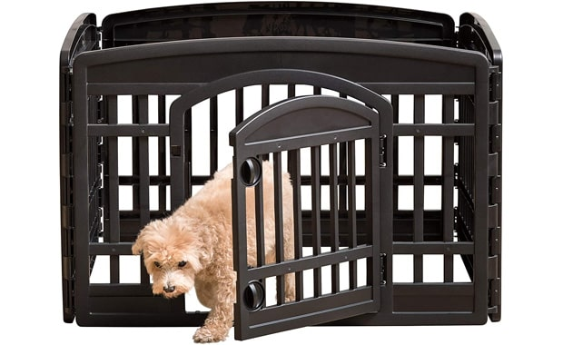 IRIS USA Exercise Playpen for Dog with 4 Panels