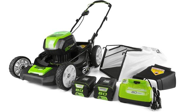 Greenworks-GLM801601 21-Inch 80V Cordless Push Lawn Mower