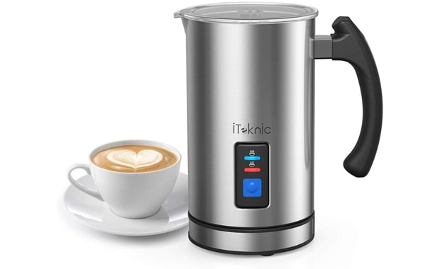 iTeknic Electric Milk Frother & Milk Steamer