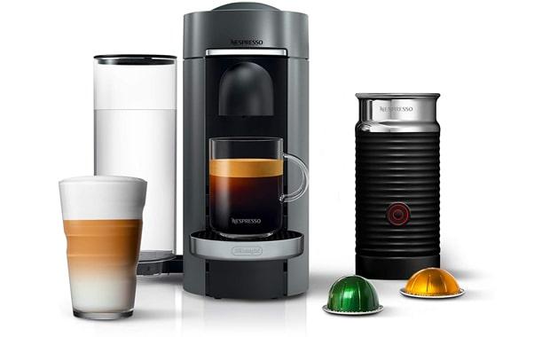 Nespresso Deluxe VertuoPlus Milk, Coffee & Espresso Maker
