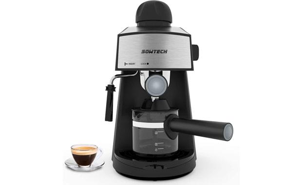 SOWTECH 4 Cup 3.5 Bar Espresso Maker Milk Frother