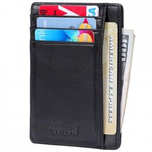 Slim wallet with ID Window and RFID Blocking