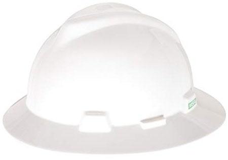 MSA V-Gard 475369 Full-Brim Standard Hard Hat