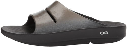 Best Slides for Plantar Fasciitis: OOFOS - Women's OOahh Luxe - Post Exercise Active Sports Recovery Slide Sandal